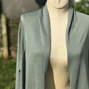 BCBG Jacklin Raglan-Sleeve Draped Front Cardigan